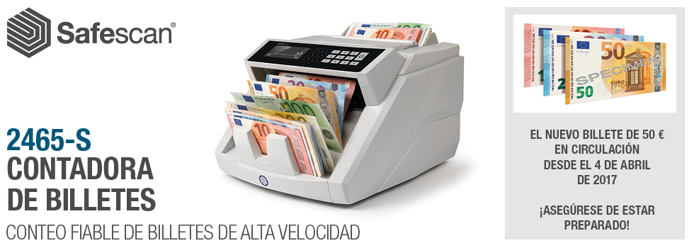 Safescan contadora nuevo billete de 50 euros